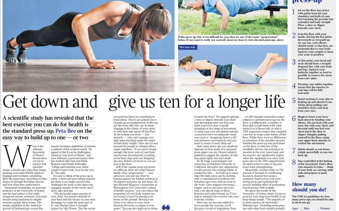 The Times – The Benefits of Press Ups