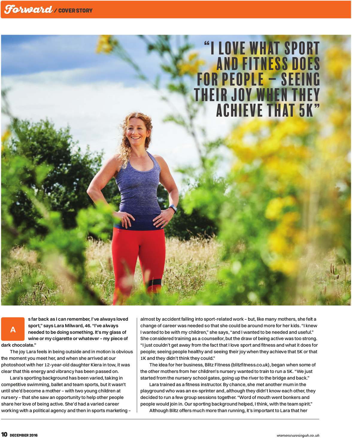 Women's Running Magazine - Article Page 1