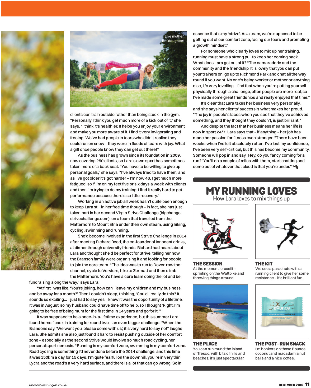 Women's Running Magazine - Article Page 2